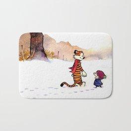 Best Friend Calvin And Hobbes Bath Mat