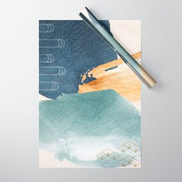 Japanese Abstract Art I Wrapping Paper