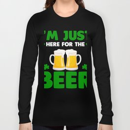Patrick's Day Shirt For Beer Lover. Long Sleeve T-shirt