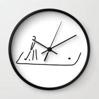 golf Wall Clocks featuring Mini-golf golf Garden golf Road golf by Lineamentum