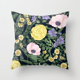Yellow roses 2091 Throw Pillow