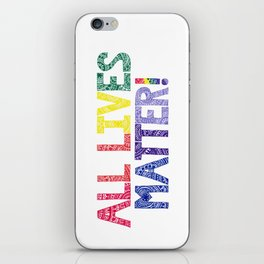 Rainbow Henna Zendoodle All Lives Matter! iPhone Skin