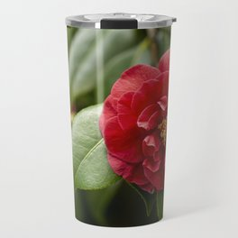 Red Camellia Travel Mug