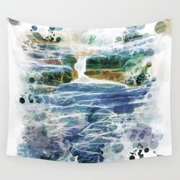 Abstract rock pool in the rough rocks Wall Tapestry