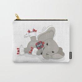 Elephant on skates Carry-All Pouch