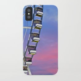 Ferris wheel at sunset iPhone Case