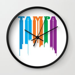 Tampa in Silhouette Wall Clock