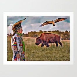 Native Lands Art Print