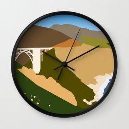 Big Sur Illustration Wall Clock