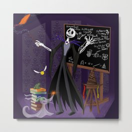Nightmare at Hogwarts Metal Print