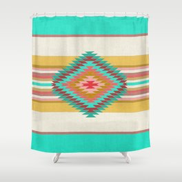 FIESTA (teal) Shower Curtain