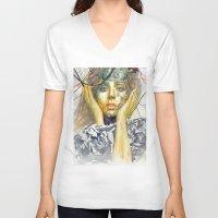 artpop V-neck T-shirts featuring ARTPOP by Abhivision