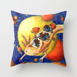 Axolotl Village Throw Pillow