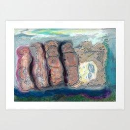 castle fingers re Art Print