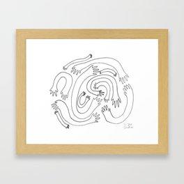 Minimalist Hand Maze Framed Art Print