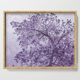 Beautiful Pine Tree Silhouette Purple Color #decor #society6 #buyart Serving Tray