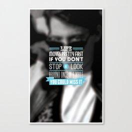 """FERRIS BUELLER"" Typography Poster Canvas Print"