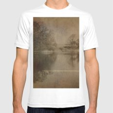 Throxenby Mere MEDIUM Mens Fitted Tee White