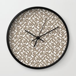 Control Your Game - Vintage Khaki Wall Clock