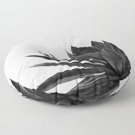 Agave Cactus Black & White Floor Pillow