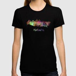 Kolkata skyline in watercolor T-shirt