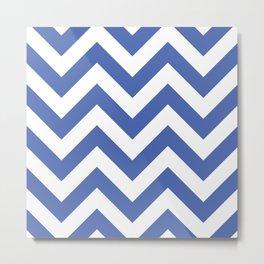 Large chevron pattern / royal blue Metal Print