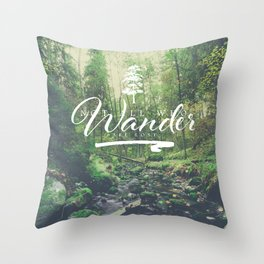 Mountain of solitude - text version Throw Pillow