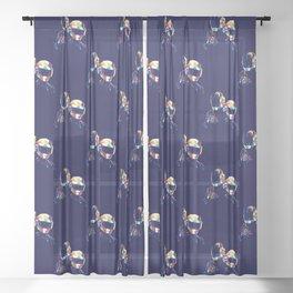 Daft WPAP Punk Sheer Curtain