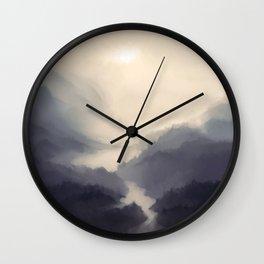 Mistscape Wall Clock