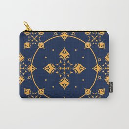 Gothic Medieval Trellis in Gold & Royal Blue Carry-All Pouch