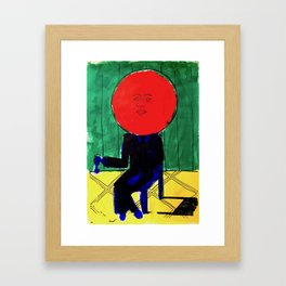 Tomato Face - Abstract Surrealism psychedelic illustration Framed Art Print