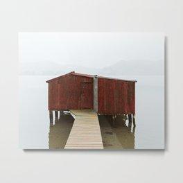 Boat House Metal Print