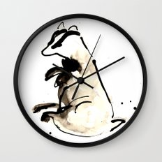 Sitting Badger Wall Clock