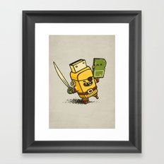Cyber Pirate Framed Art Print