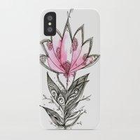 lotus flower iPhone & iPod Cases featuring Lotus by Himadri Pachori