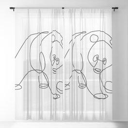 Sweet Panda Sheer Curtain