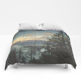 grand teton high country sunrise Comforters