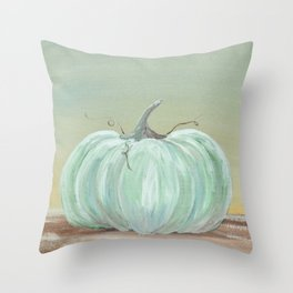 Ready for Fall Cinderella pumpkin Throw Pillow