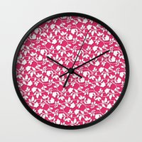 lace Wall Clocks featuring Lace by Mr and Mrs Quirynen