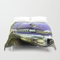 ford Duvet Covers featuring 1951 Ford Mercury by Chris' Landscape Images & Designs