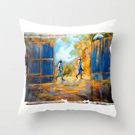 The Blue Gates /Haiti Throw Pillow