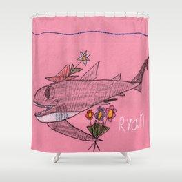 Shark Goin' A Courtin' Shower Curtain