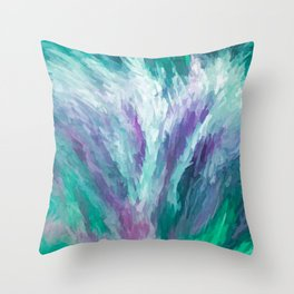 A Bouquet Of Peace, Love, Hope and Faith   Abstract Throw Pillow