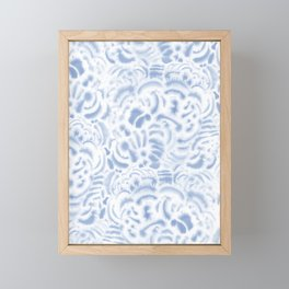 Dye Curves Soft Blue Framed Mini Art Print