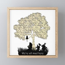 We're All Mad Here II - Alice In Wonderland Silhouette Art Framed Mini Art Print