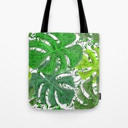 PALM LEAF B0UNTY GREEN AND WHITE Tote Bag