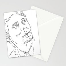 Matthew Bellamy WordsPortrait Stationery Cards