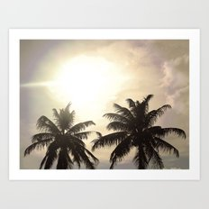 Palm Lovers Art Print