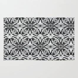 Marble black butterfly pattern Rug