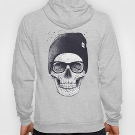 Grey Skull in a hat Hoody
